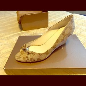Authentic Gucci Open Toe High Heel
